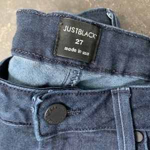 Just Black Jeans - Just Black dark wash denim skinny jeans size 27